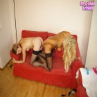 Hot MILF playing with a hairy teen