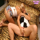 This housewife is getting nasty with a teeny babe