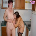 Big titted teen having fun with a horny housewife