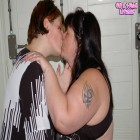 Chubby mature lesbain takes a chubby teen