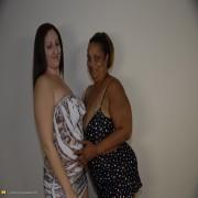 Big mature woman doing a big titted lesbian slut
