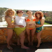 Three mature sluts do one hot lesbian babe