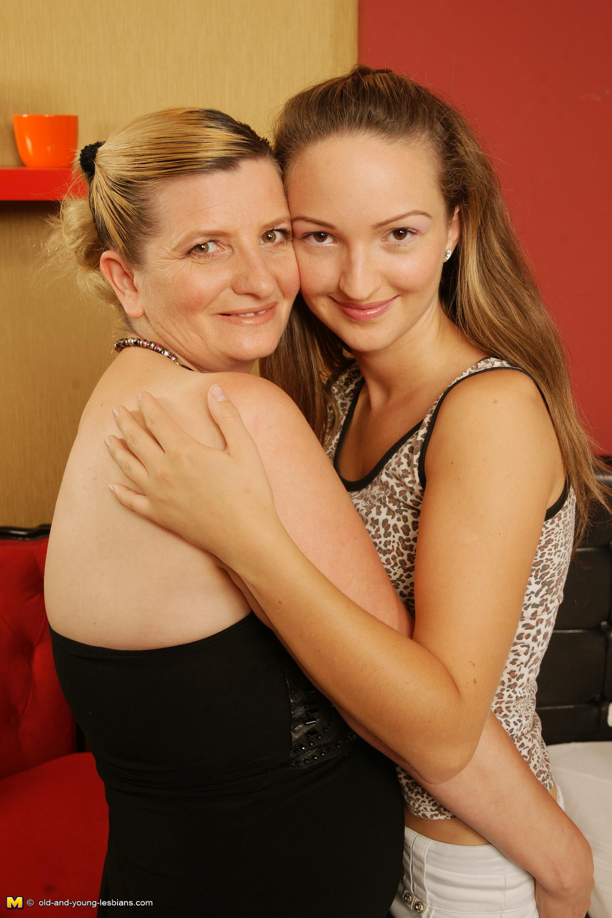 Old and milf lesbian lovers