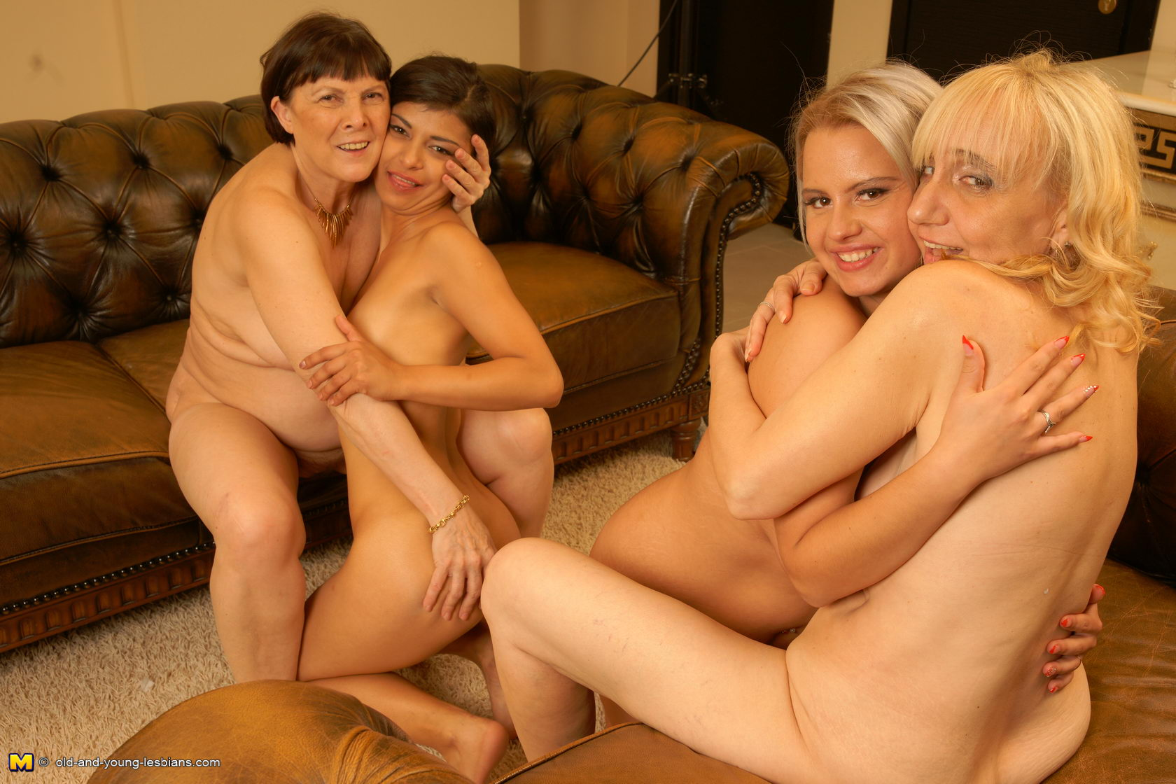 old lesbian young horny orgy