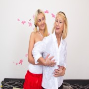 Naughty old and young lesbians playing with eachother