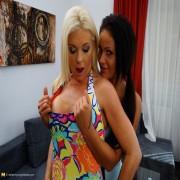 Hot babe doing a very naughty lesbian MILF