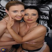 Naughty old and young lesbians make it big