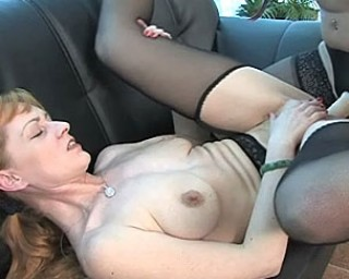 These wet lesbians sure love a hard strap on cock