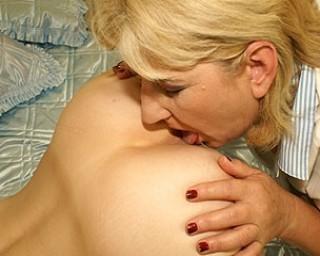 Lick mature young
