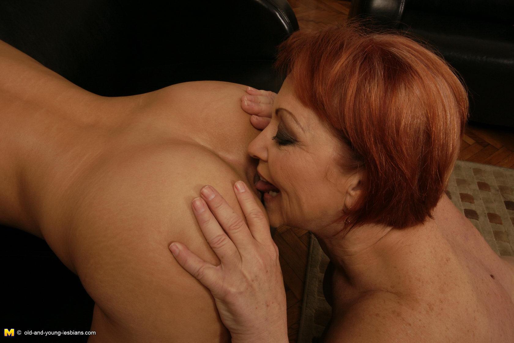 image Three horny mature lesbians go crazy