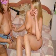 Mature lesbian enjoying a teeny one