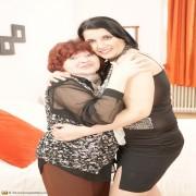 naughty older lesbian doing a hot brunette babe