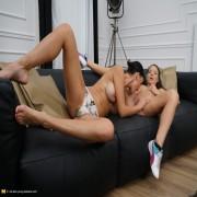 Steamy MILF seducing a hot pretty lesbian teen