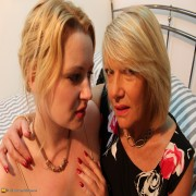 Horny British housewife having fun with a lesbian younger girl