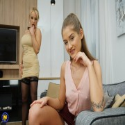 Hot Milf Tara Spades does lesbian teen Tory on her couch