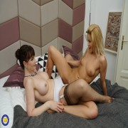 Horny old and young lesbians go all the way and then some