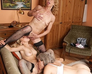 These mature sluts love the taste of young pussy